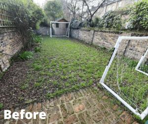 garden pitch before Easigrass