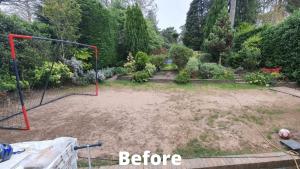 back garden before Easigrass